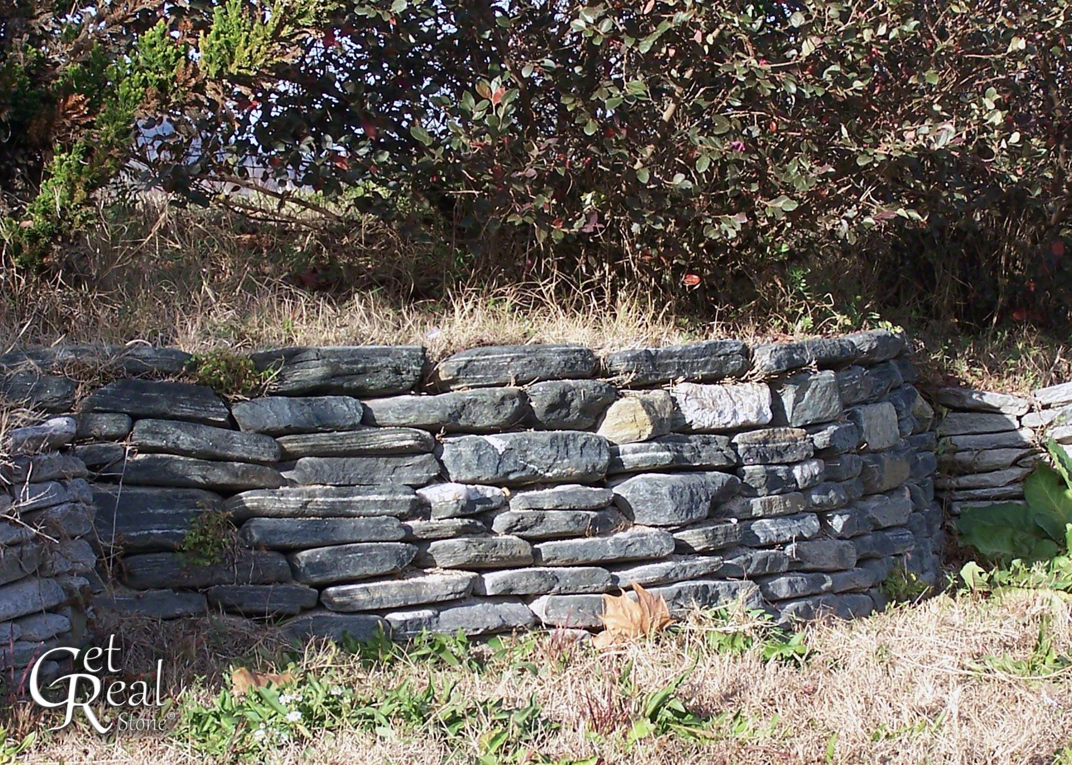 Black Regency Tumbled Wallstone
