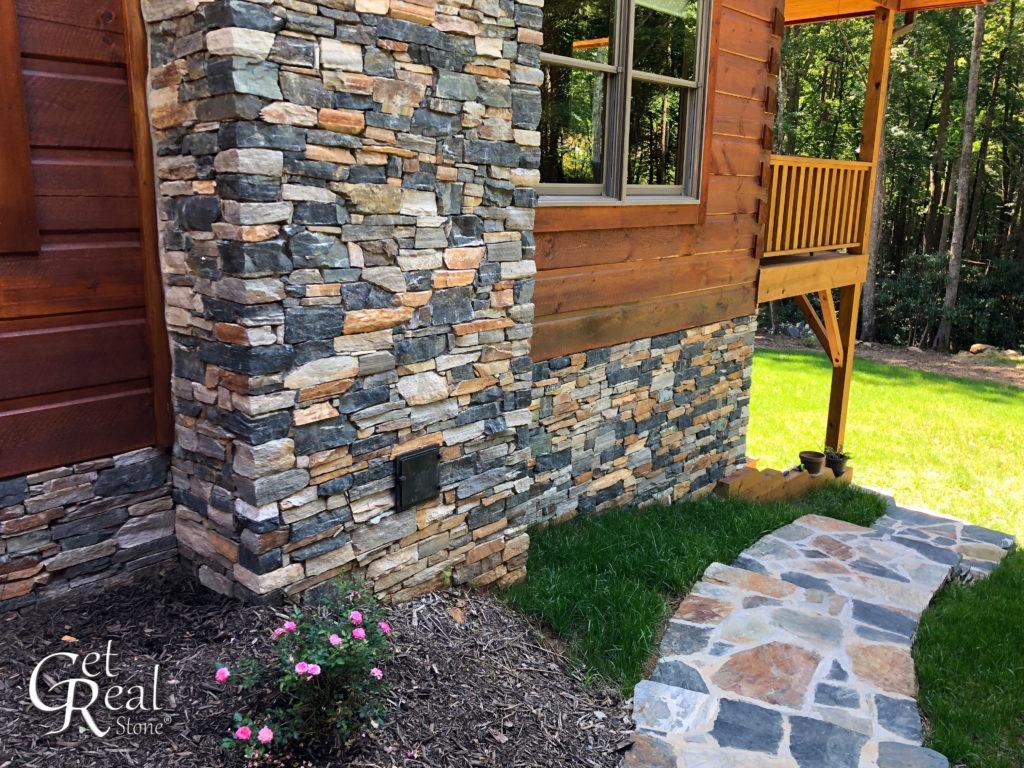 San Marcos Splitface Ledge and Irregular Flagstone